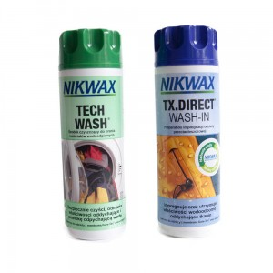 Zestaw Nikwax Twin Pack: Tech Wash + TX Direct Wash In (2 x 300 ml)